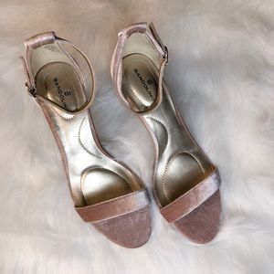 Velvet Baby Pink - Bandolino Strappy Kitten Heels